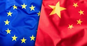 Europa China Flagge